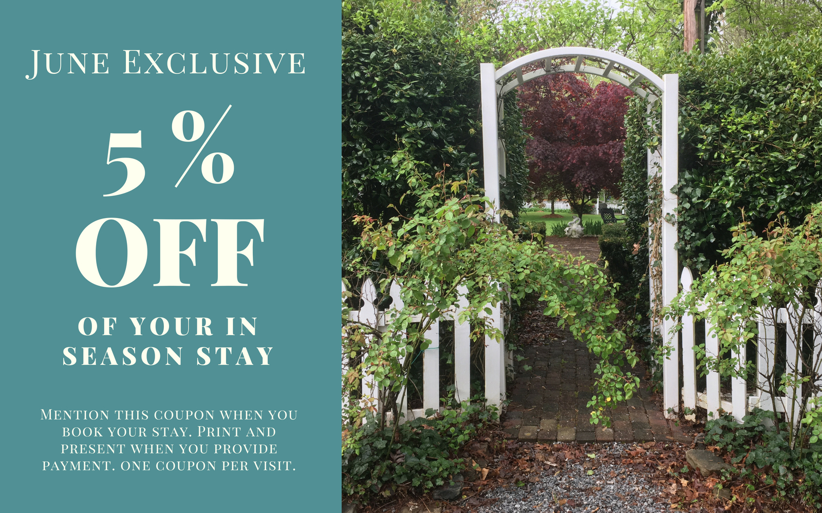 coupon for vacation cottages